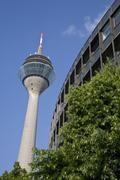 Germany, North-Rhine-Westphalia, Duesseldorf, Rhine Tower Stock Photos