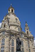 Stock Photo of Germany, Dresden, Germany, Dresden,Frauenkirche and statue of Martin Luther