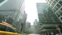 Driving POV shot of New York City street Park Avenue Stock Footage