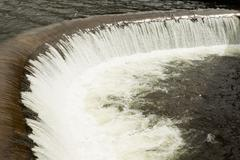 Manmade Dam On Pisayambo Lagoon Llanganates National Park Ecuador - stock photo