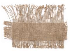 sackcloth material - stock photo
