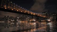 city night time lapse. nyc. skyline. intro. 1080 - stock footage