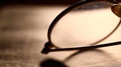 Eye glass Stock Footage