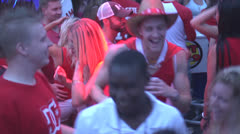People Partying Celebrating Canada Day in a Bar Stock Footage