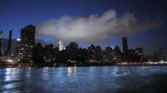 city time lapse. night lights. nyc skyline. tourism 1080 - stock footage