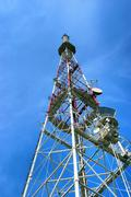 Tower for cellular communication aerials Stock Photos
