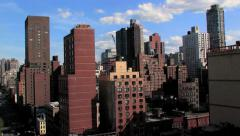 skyline skyscrapers. nyc. aerial view. cityscape - stock footage