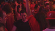 Close up of Young People Dancing and Partying at a Club Stock Footage