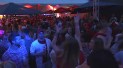 Young People Partying in Club Stock Footage