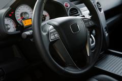 modern new car - stock photo