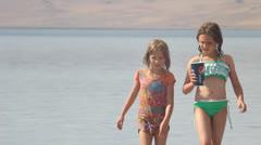 Beach girls Stock Footage