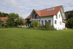 Stock Photo of Germany, Munich, View of house with garden