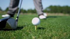 Professional Golfer Teeing Off Stock Footage
