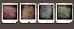 Old polaroids Stock Photos