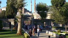 Tourists in Sultanahmet Square in Istanbul (Editorial) Stock Footage
