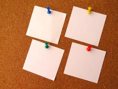 Four-note paper Stock Photos