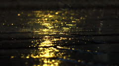 Night Rain Stock Footage