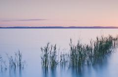 Germany, Lake Constance with afterglow - stock photo