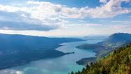 Stock Video Footage of Timelapse view of the Annecy lake from  Col du Forclaz
