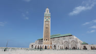 Stock Video Footage of Mosque of Hassan II in Casablanca, Morocco