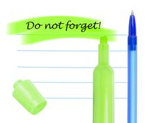 Memo note design. Stock Photos