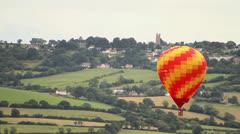 Hot Air Balloon in Flight at Bristol Balloon Fiesta - HD Stock Footage