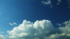 Beautiful summer clouds. Time lapse. Stock Footage