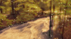 Forest Stream Enchanted 2 Stock Footage