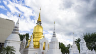 Stock Video Footage of time lapse beautiful old temple and nice sky of thailand