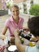 Stock Photo of couple at breakfast table