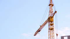 Construction site, crane working. Stock Footage