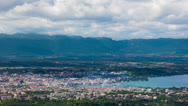 Stock Video Footage of Timelapse of the Geneva from the Saleve
