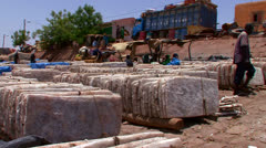 Goods are bundled and shipped in Mali, Africa. Stock Footage