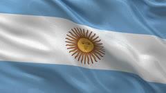 Flag of Argentina seamless loop Stock Footage