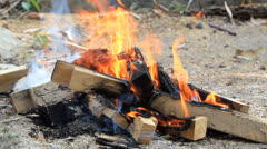 Camping fire Stock Footage