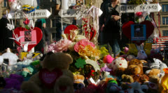 Marathon Victims Memorial Stock Footage