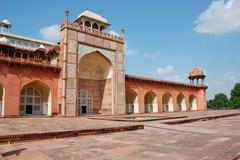 tomb of akbar the great - stock photo