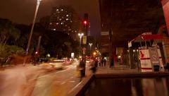 Avenida Paulista Museum of Art MASP Sao Paulo Brazil - stock footage