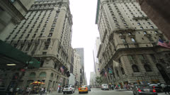 Driving POV shot of New York City street Fifth Avenue Stock Footage