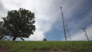 Stock Video Footage of Radio Antenna Tower