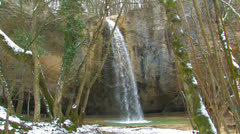 Beautiful Crimean Waterfall. - stock footage