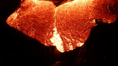 Flowing lava close up, Lava - Kilauea volcano, Hawaii Stock Footage