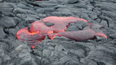 Stock Video Footage of Lava - flowing lava from Kilauea volcano, Hawaii