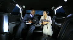 Chauffeur Driven Business Executives Stock Footage