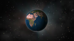 fireworks over earth - stock footage