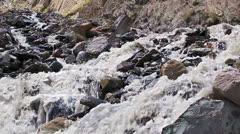 White mountain river. Slow-motion Stock Footage