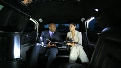 Successful Financial Advisors Luxury Transport Wireless Technology - stock footage