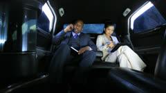 Successful Financiers Luxury Travel Smart Phone Stock Footage