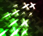Green xxx abstract background Stock Illustration