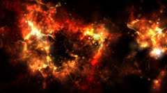 Abstract fantasy fiery background. - stock footage